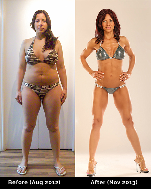 before and after fitness photo